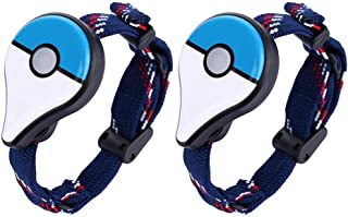 2pcs Bluetooth Wristband Watch Figure Toys for Pokemon Go Plus (Blue)