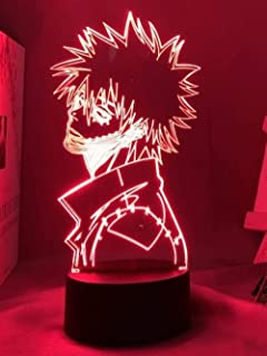 BTEVX 3D Illusion Night Light LED Lamp for Kids 3D Acrylic Lamp Anime My Hero Academia Dabi LED Light for Bedroom Decorati...