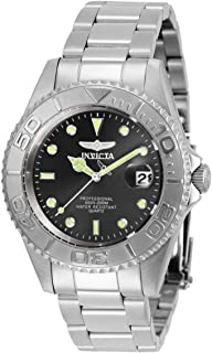 Invicta Men's Pro Diver Quartz Watch with Stainless Steel Strap, Silver, 18 (Model: 29937)
