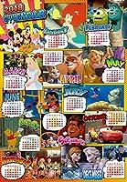 1000ピース ジグソーパズル ディズニー 2018年 カレンダー ジグソーパズル(51x73.5cm)