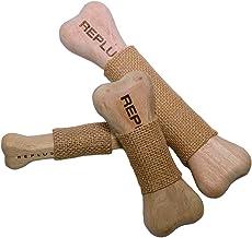 ペットおもちゃ REPLUS マンゴーボーン SSサイズ 噛むおもちゃ 柔らかめ 木製おもちゃ 11cm