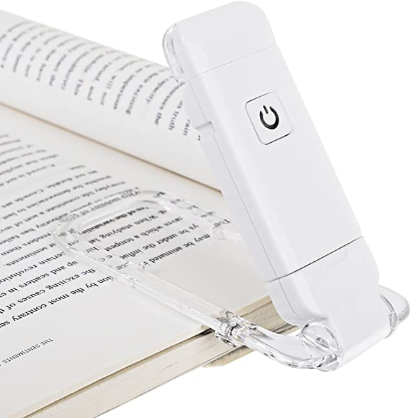 DEWENWILS USB Rechargeable Book Reading Light Brightness Adjustable For Eye Care Clip Light For Book LED Book Light For Reading In Bed Daylight Perfect For Bookworms Kids