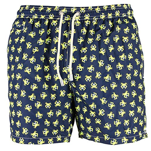 mc-safety MC2 Saint Barth Badehose Boxer Herren, Mod. Lighting Micro-Fantasy-Crab Fluo 6194 - S