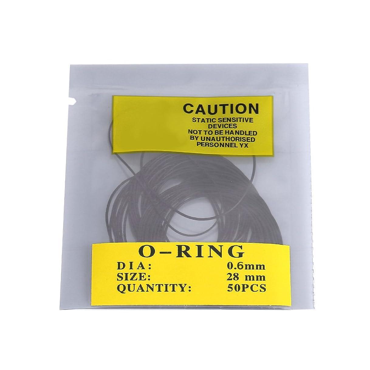 ながらヘビー正統派950pcs 0.5mm/0.6mm/0.7mm Oリングラバーシール 腕時計 防水 パーツ パッキン ゴムリング ラバー DIY/時計メーカー適用 耐久性(0.6mm)