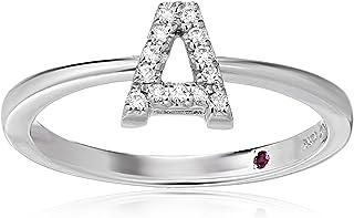 Roberto Coin Women's 001634AWLRXA Diamond Initial Ring, White, Size 7