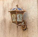 RXT Luz de Pared Solar al Aire Libre luz de Sensor LED para el hogar Impermeable al Aire Libre luz de Pared de Patio de jardín de Villa de Estilo Europeo
