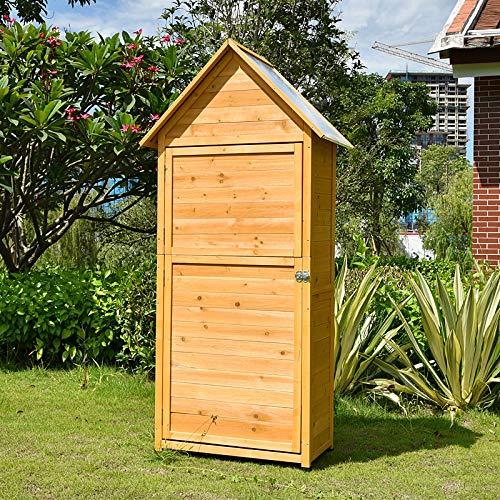 WLOWS Gerätehaus Holz, Gartenschrank...