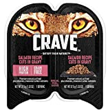 CRAVE Adult Wet Cat Food, Salmon Recipe Cuts in Gravy, 24 Single-Serve Twinpacks, (48) 1.32 Ounce Servings