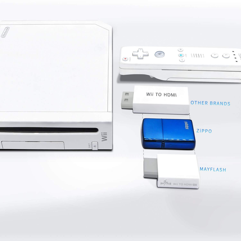 MAYFLASH Convertidor de Wii a HDMI 1080P para dispositivo Full HD, adaptador Wii HDMI con conector de audio de 3,5 mm y salida HDMI compatible con Nintendo Wii, Wii U, HDTV, monitor