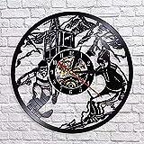 Reloj de Pared con Disco de Vinilo Un Reloj de Pared Retro...