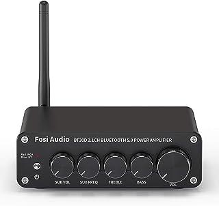 Fosi Audio BT30D Bluetooth 5.0 Stereo Audio Receiver Amplifier 2.1 Channel Mini Hi-Res Class D Integrated Amp 50 Watt x2+1...