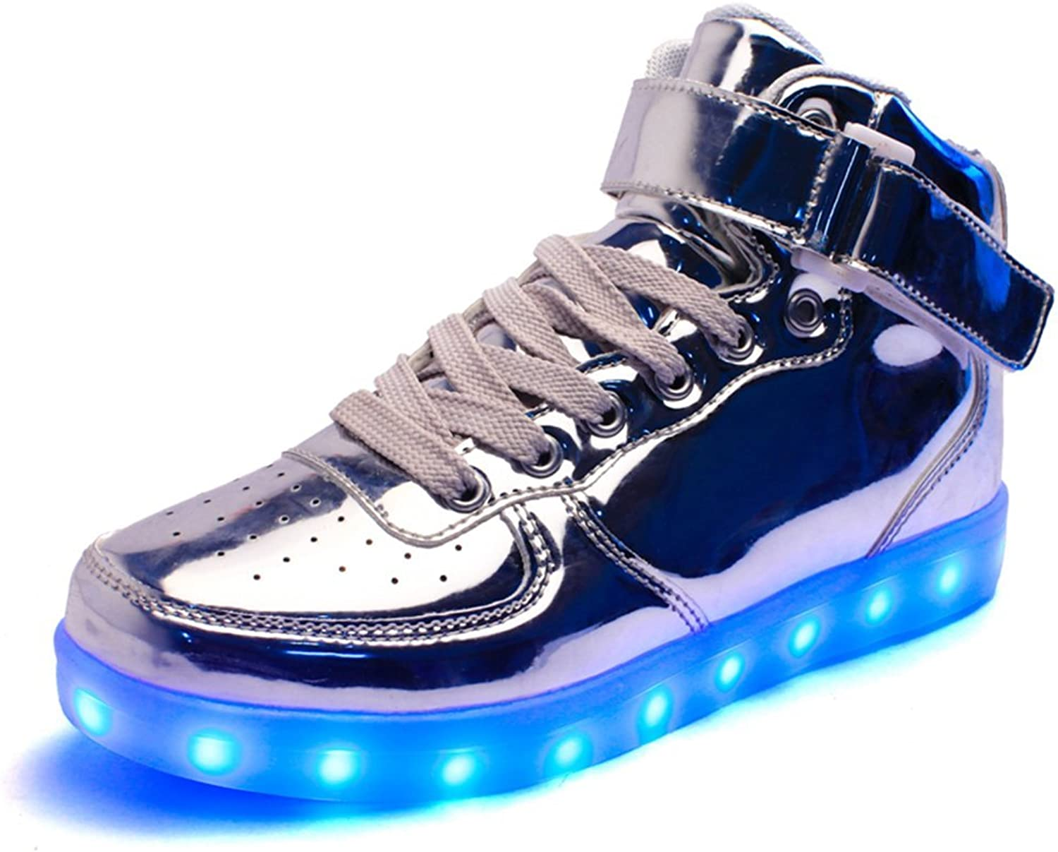 PP Fashion Unisex High Top Luminous Sport LED shoes USB Charging Flashing Sneaker