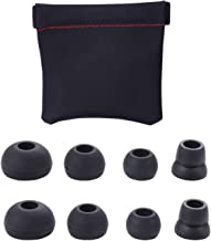 4 Pairs Silicone Replacement Eartips Earbuds for Powerbeats 2/3 Wireless Beats by dre Headphones with a PU Storage Bag (Black)