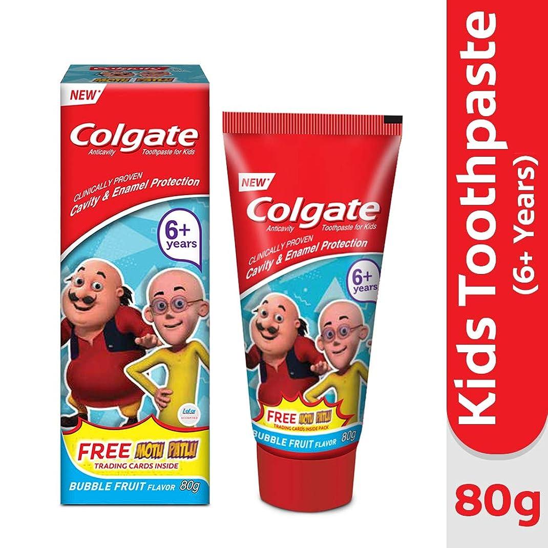 愛人メロドラマティック自分の力ですべてをするColgate Kids Anticavity Motu Patlu Toothpaste (6+ years), Bubble Fruit flavour – 80gm