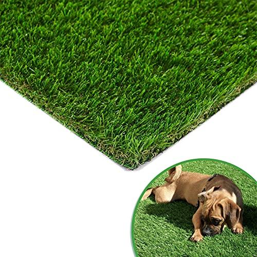 CNBPLS Künstlicher Rasen, Golf rutschfeste Teppich Mit Entwässerungslöchern, Realistischer Gras Synthetisch Dicker Rasenflügel,8 * 2M