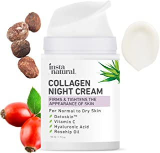 Collagen Night Anti Aging Cream - Anti Wrinkle Moisturizer for Face & Neck- Helps Reduce Appearance of Wrinkles & Fine Lin...