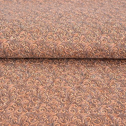 GLFYHG Thin Soft Premium Natural Corch Tela De Color Color De Color Faux Hojas De Cuero Ancho 135 Cm para Accesorios De Decoración De Artesanía Bolso Bolso Shoes por El Patio(Color:2#)
