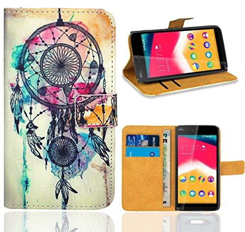 Wiko Rainbow Jam Handy Tasche, FoneExpert Wallet Hülle Flip Cover Hüllen Etui Ledertasche Lederhülle Premium Schutzhülle für Wiko Rainbow Jam