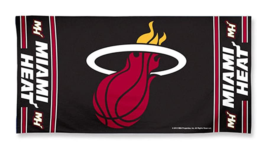 可聴教科書石膏Miami Heat Pool Beach Bath Gym Towel Large 80cm X 150cm with Official NBA Basketball Sports Team Logo