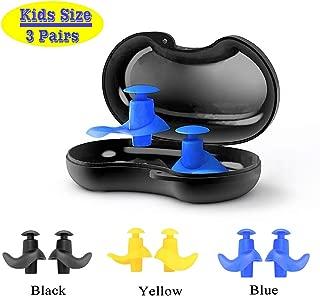 Go-sport Swimming Ear Plugs for Kids 3 Pairs Waterproof...