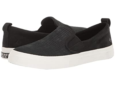 Sperry Crest Slip-On Woven Emboss (Black) Women