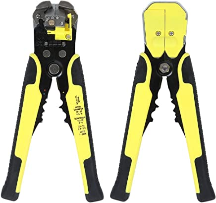 ValueHall Wire Stripper Plier, Self-Adjusting Automatic Wire Stripper Multifunctional Cable Stripping Cutting Peeling Pliers Tool AWG 24-10(0.2~6.0mm²) V7008-1