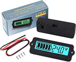 Icstation Voltage Capacity Tester Moudle 12V-48V Lithium-ion Lead-acid Battery Status Indicator LCD Digital Power Monitor for Balance Car Vehicle Skateboard (Blue Backlight)
