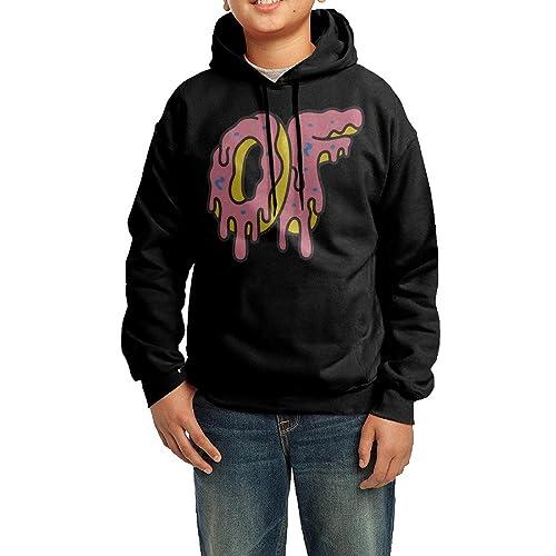 d3360c28244a TMDING Youth s Odd Future OF Donut Logo Hooded Sweatshirt