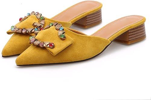 GTVERNH Mode Chaussures Femme Femme Femme 4 Cm High Heeled Sandales Petites Et Frais en été Simple Et De Faible Moyenne Et Souligné l'eau Exercice Confortables des Chaussures De Femmes.Trente - Neuf noir b0c