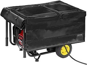 IGAN Generator Tent Running Cover, Portable Safety Generator Accessories, Super Heavy Duty Tarpaulin Enclosure, Compatible with 3500w-12000w Generators, Black