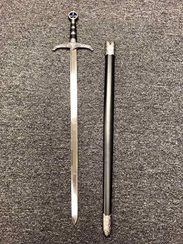 AS Sports 37' Medieval Crusader Knight of Templar Celtic Royal Claymore Metal Sword Steel Blade LARP Xmas Gift