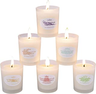 Anjou Scented Candle 6 Pack Gift Set, Aromatherapy Set of Fragrance Soy Wax, 15 Hours Burn Time Per Cup, 6 x 70 g for Stress Relief, Christmas Gift