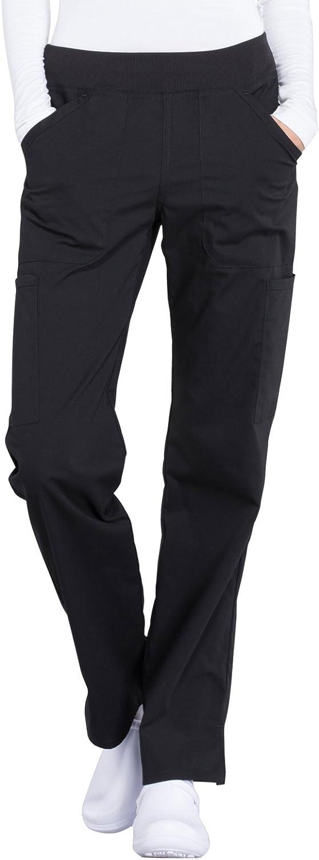 Workwear Professionals Women Scrubs Pant Mid Rise Straight Leg Pull-on Cargo WW170