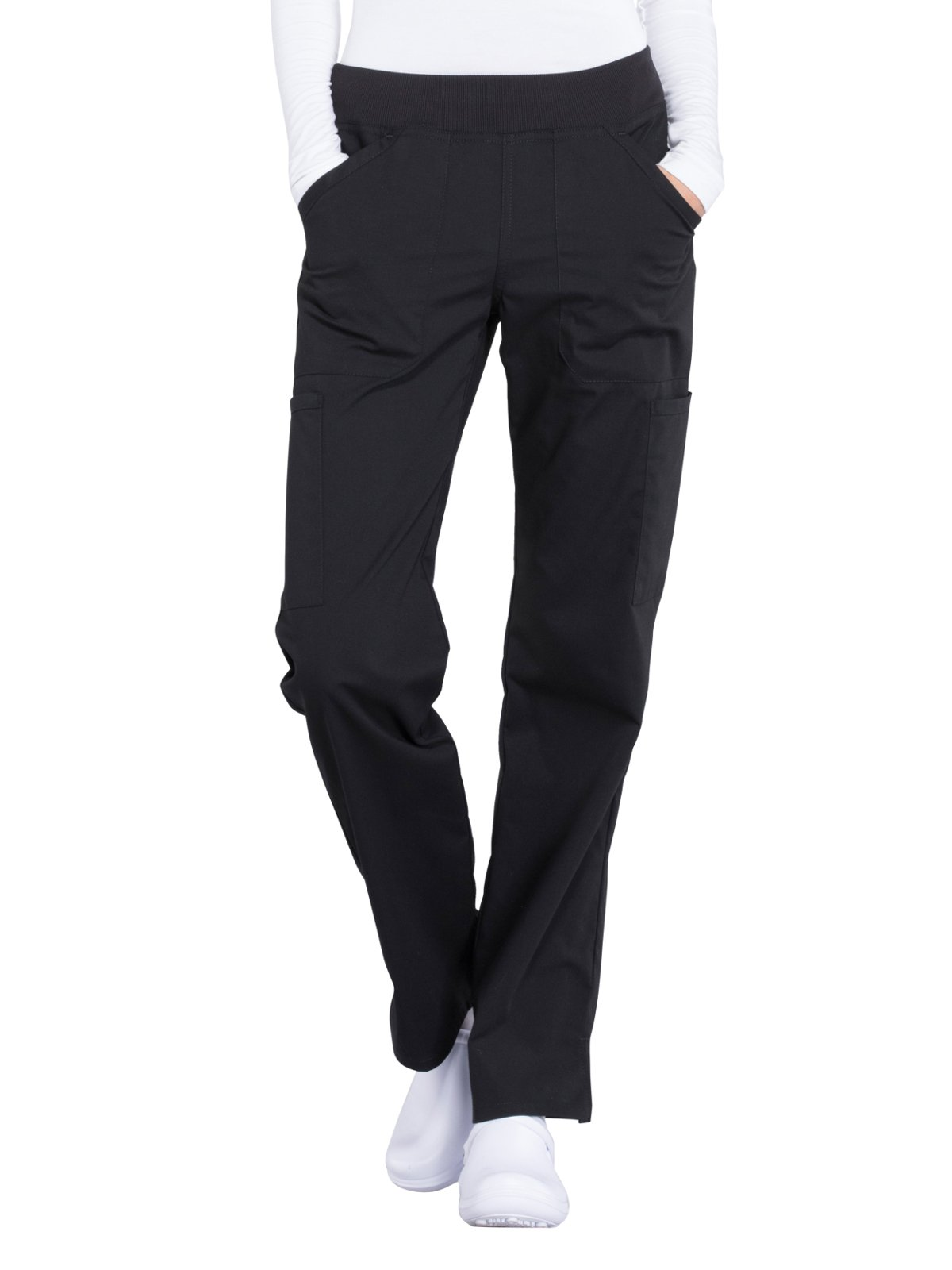 Cherokee Workwear Professionals Mid Rise Straight Leg Pull-on Cargo Scrub Pant