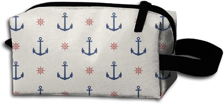 Captain Sailor Pirate Anchor Wheel Pencil Bag Portable Max 70% OFF Coin Over item handling ☆ Purs