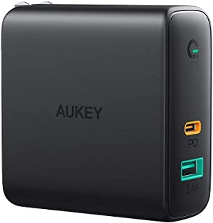 AUKEY ACアダプタ 充電器 USB-C急速充電器 アダプタ 60W 折畳式 / PD3.0対応 iPhone 11 / XS/XS Max/XR/X、GalaxyS9、MacBook Pro、iPad Pro、Nintendo Switc...