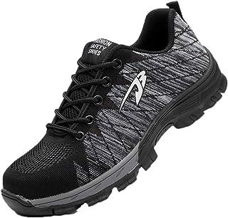 Zapatos de Seguridad para Hombres Zapatos de Acero con Punta de Seguridad,Zapatillas Deportivas Ligeras e Industriales Transpirables