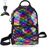 Girls Sequin Backpack Kids Rainbow Reversible Flip Casual Bag Cute School Dance Class