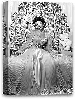 Funny Ugly Christmas Sweater Elizabeth Taylor Canvas Art Elizabeth Taylor Fashion Illustration Taylor Stylish Portrait Black and White Canvas Painting Taylor Decor 8
