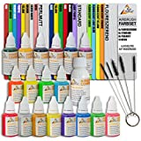 Water-Based Airbrush Paint Set with Cleaning Brush Set for Airbrush Compressor and Airbrush Gun Basic...