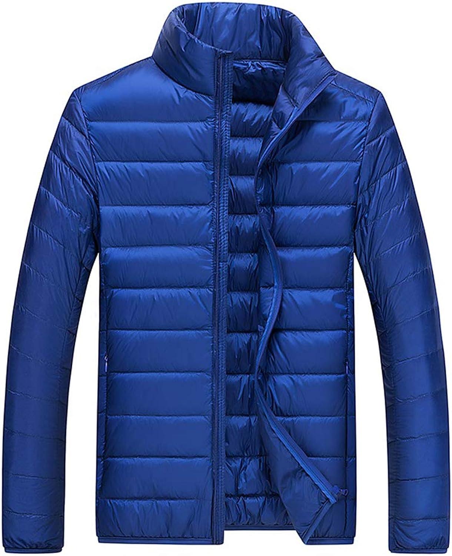 SJSF L Herren Ultra Light Daunen Jacke Gepolsterte Leichte Herren Warm Daunenjacke Warm Kompakt Ideal Bei Kaltem Wetter Pflegeleicht Packtasche