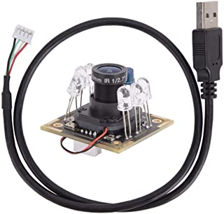 Maxmartt USB Camera Module IR-Cut Infrared HM2131 Chip with Microphone 1920x1080 30fps 94°