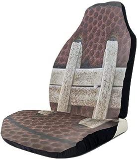 GZtaowen Universal Car Seat Covers,Colorful Cute Vehicle Seat Protector Car Mat Covers,Non Slip Backing Fit Cars, Sedan, Truck, SUV, Van(American Football Themed Fun )