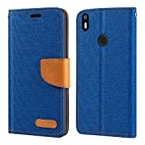 BQ Aquaris X Case, Oxford Leather Wallet Case with Soft TPU