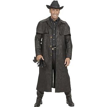 Amakando Disfraz del Oeste Abrigo Vaquero Negro S 48 Atuendo ...