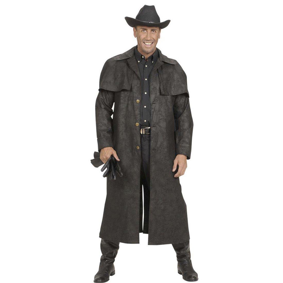Amakando Disfraz del Oeste Abrigo Vaquero Negro L 52 Atuendo ...