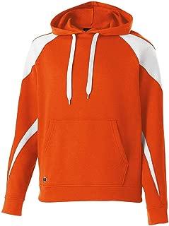 Unisex Prospect Athletic Fleece Hooded Sweatshirt-Black/Orange