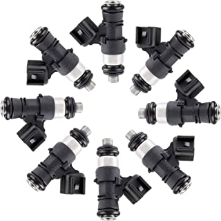 OCPTY 8pcs 4 Holes Replacement Fuel Injectors Engine Part fit for 2012 Cadillac CTS 2011 2012 2013 2014 2015 Chevy Camaro ...