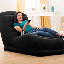 Intex 68595 Inflatable Mega Lounge Chair, Black