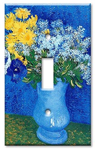 Single Gang Toggle Wall Plate - Van Gogh: Lilacs, Daisies